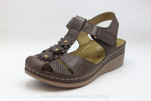 Lady Wider & Comfort Sandal- TF- 688-3- COFFEE Colour