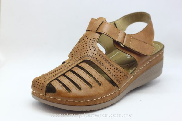 Lady Wider & Comfort Sandal- TF- 688-1- TAN Colour