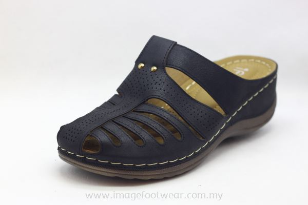 Lady Wider & Comfort Sandal- TF- 818-38 BLACK Colour