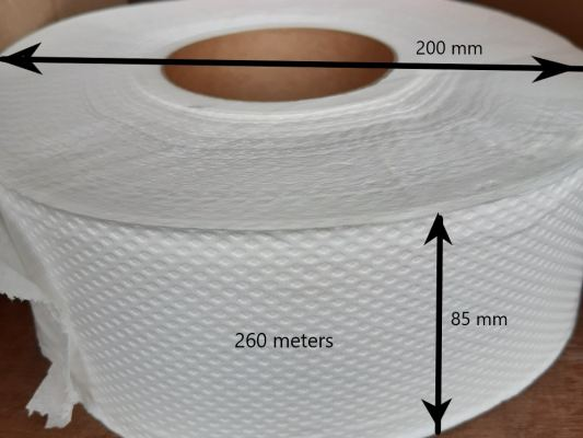 2 Ply Jumbo Roll Tissue Pure Pulp (260 meters)