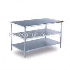 STAINLESS STEEL WORKTABLE 2 TIER UNDERSHELF
