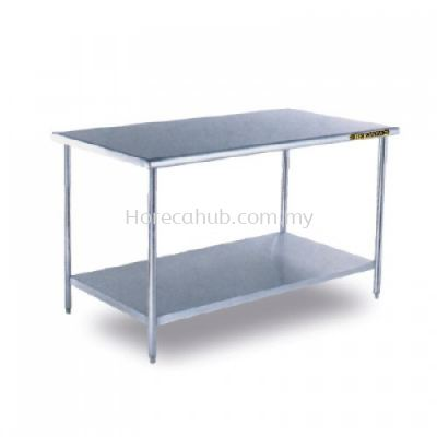 STAINLESS STEEL WORKTABLE WITH 1 TIER UNDERSHELF