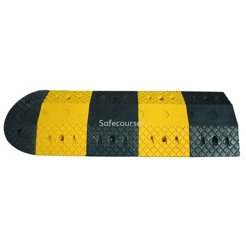 SC-SH17 25*35*5mm Speed Humps End Cap For Plastic Speed Bump with Good Quality Roadway Saftey