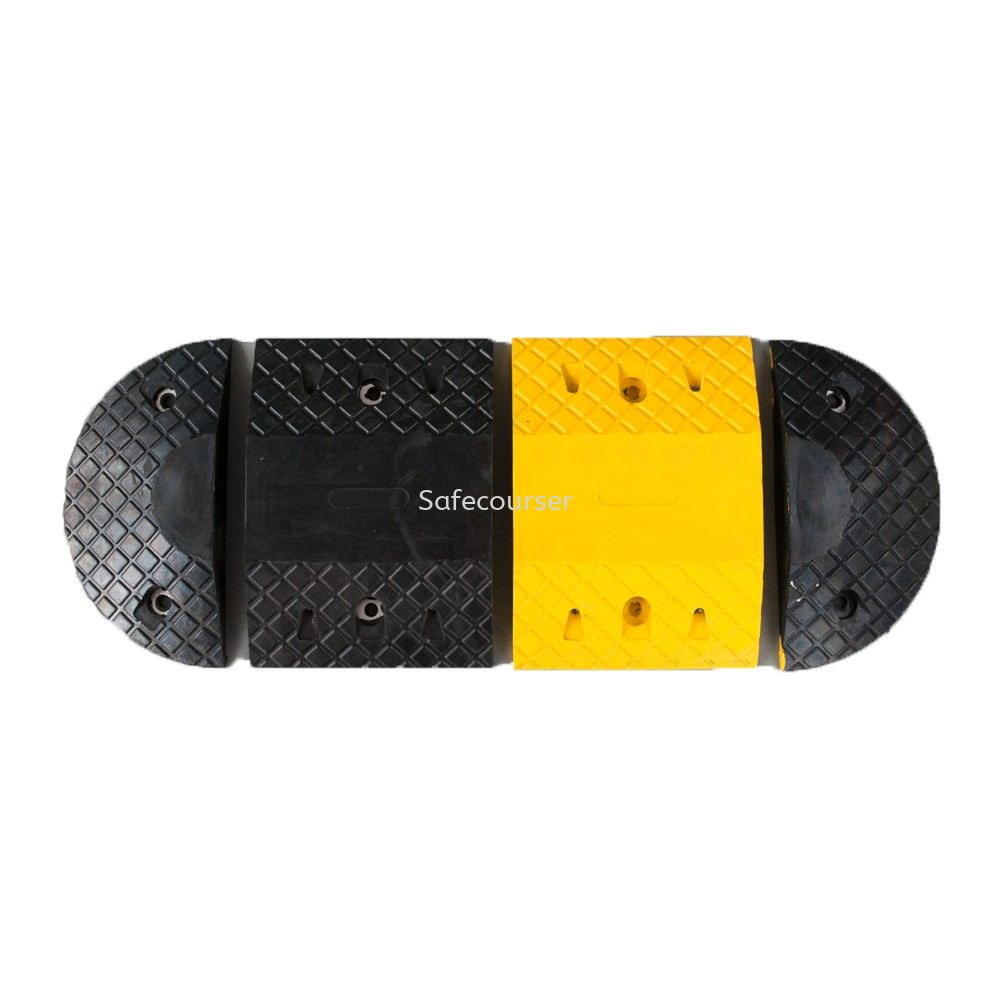 SC-SH17 250*350*50mm Yellow Black Speed Humps Road Bump For Roadway Saftey
