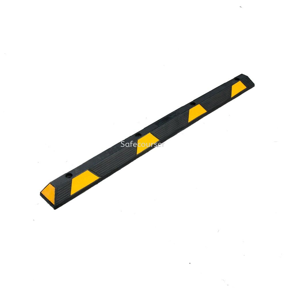 SC-WS08A 1830mm Yellow Black Speed Humps Car Wheel Stop For Roadway Saftey
