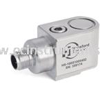 HS-100SRT Series Dual Output M12 Connector with PT100 Temperature Sensor Industrial Accelerometer