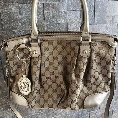 Gucci GG Canvas Sukey Top Handle With Long Strap