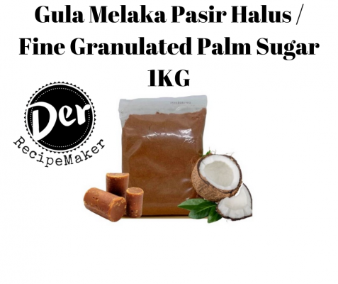 Gula Melaka Pasir Halus / Fine Granulated Palm Sugar 1KG for Tapioca Pearls / Cake