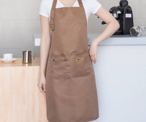 Adjustable Unisex Apron Adult (X 2) - Coffee Brown Color
