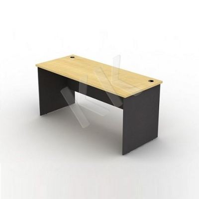 Maple & Dark Grey Straight Office Table 1500W