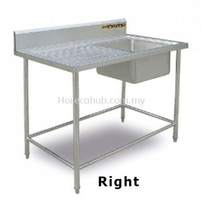 SINGLE BOWL SINK TABLE RIGHT