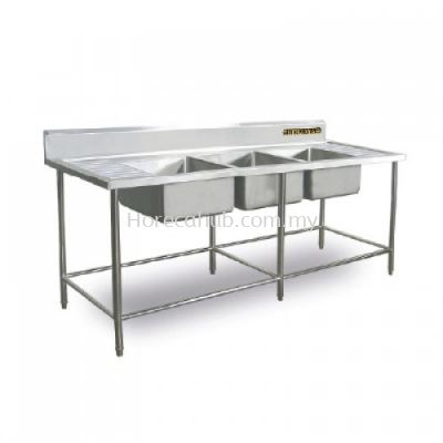 TRIPLE BOWL SINK TABLE (TBS-84)