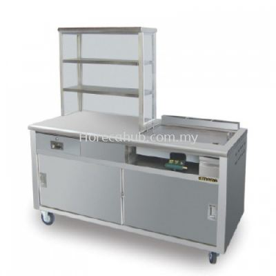 BURGER STALL WITH HOT PLATE &  BURNER