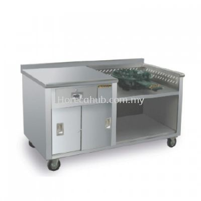 ROTI CANAI DIPPED COUNTER WITH C-50 BURNER ONLY