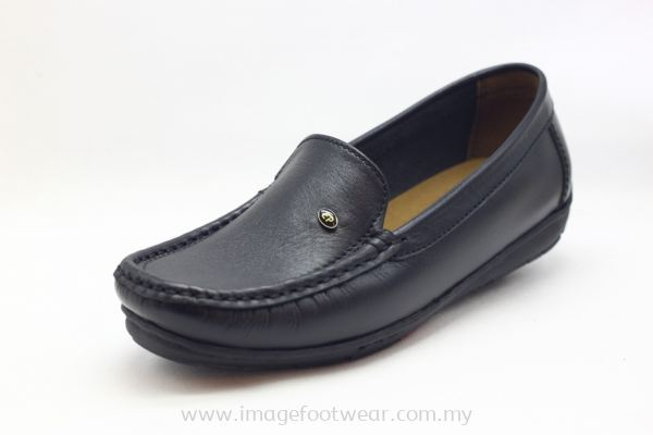 EXPRESS POLO FULL LEATHER LADIES SHOE-LL-90357-BLACK Colour