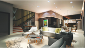 "Ground Floor (Night View) Alam Impian ""ALTHEA"" Show House Interior Design"