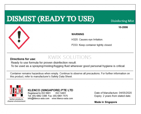Dismist Ready-to-Use (5 Litres)