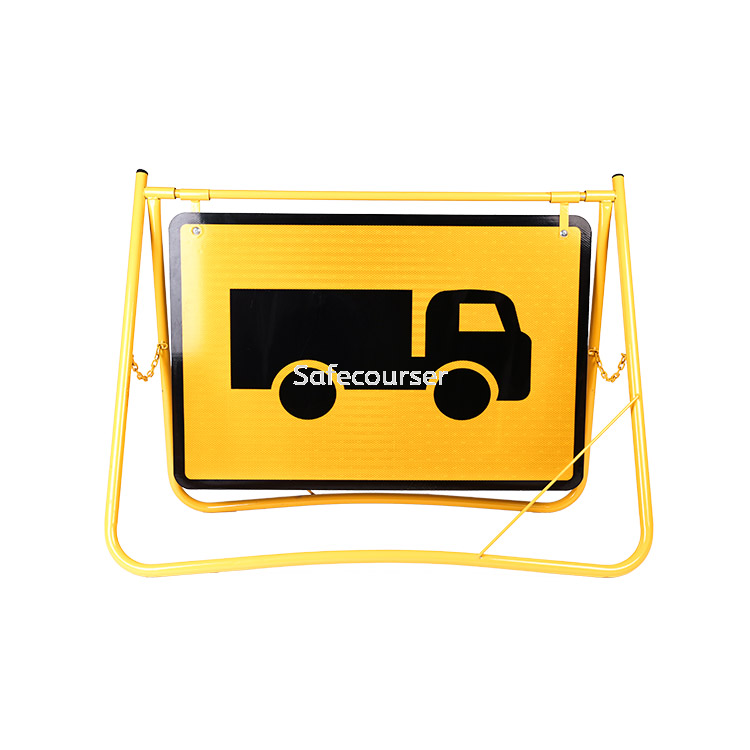 OEM Roadway Safety Devices Roadwork Traffic Board Warning Board Signage Swing Stand Traffic Signs
