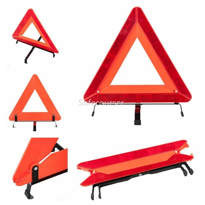 Traffic Sign Car Warning Red Triangle With Led Traffic Light