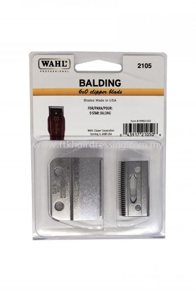 WAHL 2105 Balding 6X0 2-Hole Clipper Blade (USA Made)