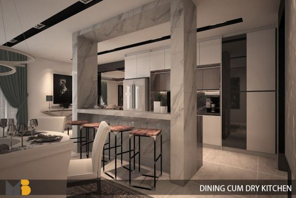 Dining Area & Dry Kitchen