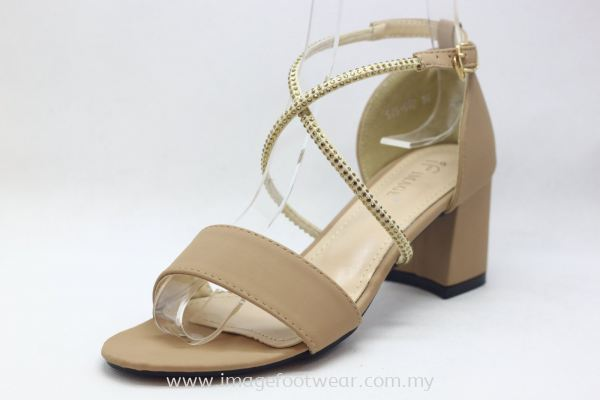 Lady Fashion Sandal with 2 Inch Heel - TF- 520-6621- PINK Colour
