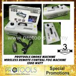 PROTOOLS Smoke Machine Wireless Remote Contral Fog Machine 1200 Watt