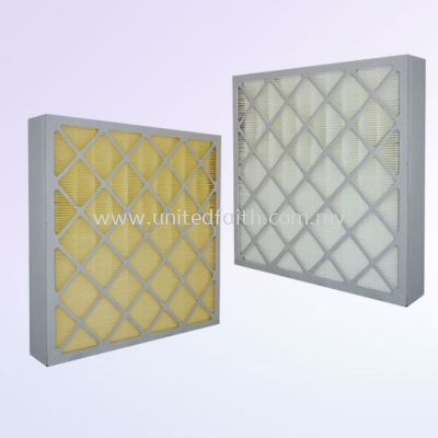 Mini Pleat Secondary Filter  -Glass fiber or PP media enclosed into a die cut beverage board