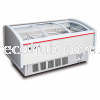 CHEST FREEZER-PIPING SYSTEM (WITH CURVE GLASS SLIDING) COMMERCIAL REFRIGERATOR CHEST FREEZER RANGE KITCHEN STORAGE