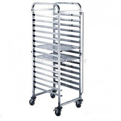 STAINLESS STEEL COOLING RACK FOR FOOD PAN, BAKING TRAY, & KNOCK DOWN