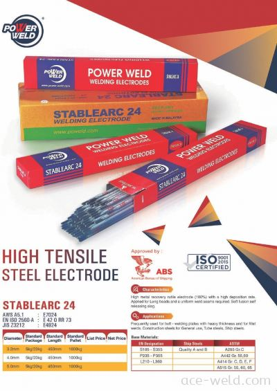 Powerweld STABLEARC 24 ELECTRODE E7024