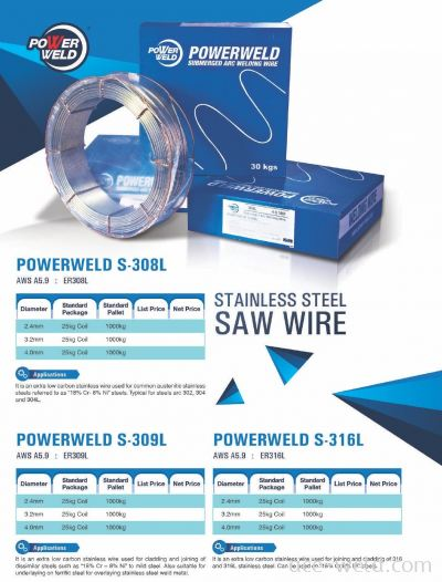 Powerweld STAINLESS SAW WIRE 308L,309L,316L