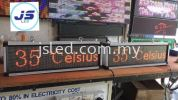 Temperature/Humidity Display With Sensor Single Color LED Display