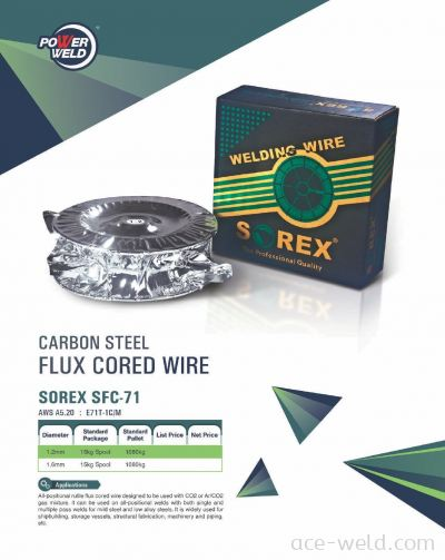 SOREX E71T FLUX CORED WIRE