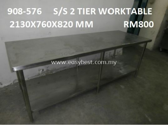 USED : 908-576 (S/S 2 TIER WORKTABLE)
