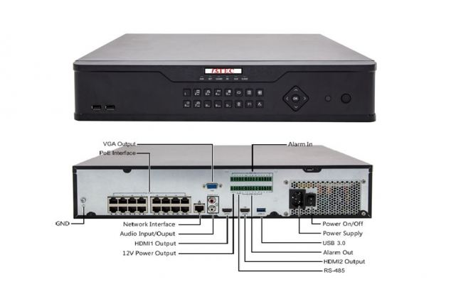 BX8-S16P16H4 -16 CHANNELS 4K NETWORK VIDEO RECORDER