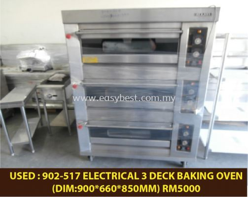 USED : 902-517 ELECTRICAL 3 DECK BAKING OVEN