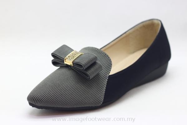 Women 1 inch Wedge Shoe TF-9510-5- GREY Colour