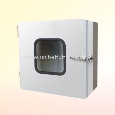 Pass Box  -Used for product transfer in clean room. Main body is constructed from Electro. Galvanized Steel & SUS for Internal. Available in Epoxy Powder baked.
