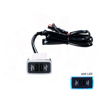 AUTO-HK A717 USB CHARGER W/LIGHT - TOYOTA OLD
