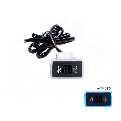 AUTO-HK A717 USB CHARGER W/LIGHT - HONDA OLD
