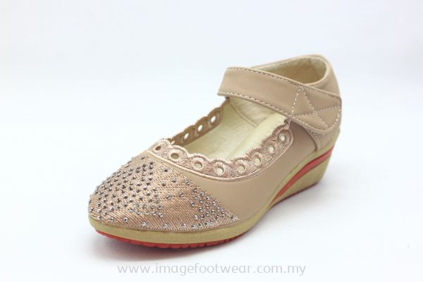 Girl 1 inch Wedge  KD-918-7- PINK Colour
