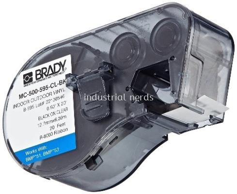 Brady BMP51 Indoor / Outdoor Vinyl Label MC-1500-595 WT-BK Black on White