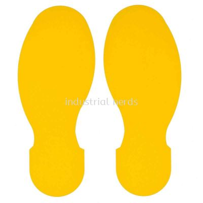 Brady 104409 10' x 3.5'' Yellow Foot Prints