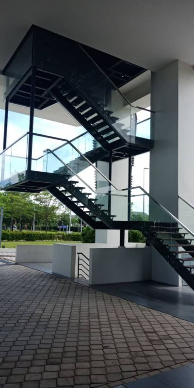 METAL RAILING AND SPIRAL STAIRCASE122