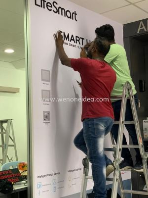 Wall Sticker & Lettering Signage Installation