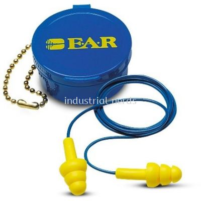 3M 340-4002 UltraFit Reuseable Corded Earplug NRR 25dB with carrying case