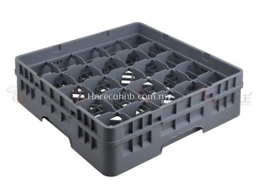 25 COMPARTMENT GLASS RACK WITH FULL DROP EXTENDER