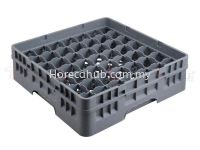 49 COMPARTMENT GLASS RACK WITH FULL DROP EXTENDER