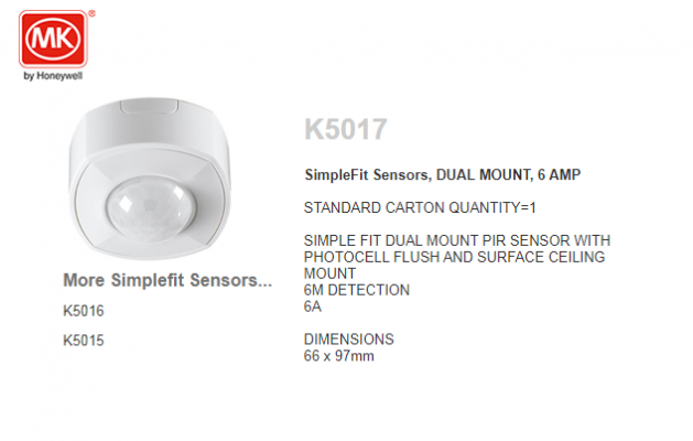 MK K5017 DUAL MOUNT PHTOCELL FLUSH & SURFACE